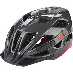 UVEX Active Fietshelm, anthracite/red